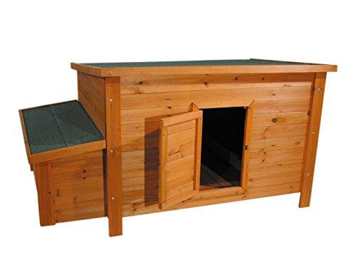 Nobby 20802 Hühnerstall 151,0 x 89,5 x 80,0 cm (für 6 Hühner), braun-grün