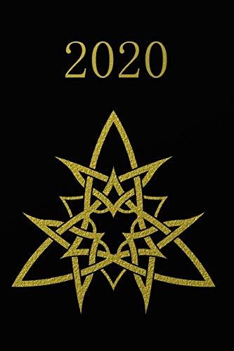 2020: Calendario e Agenda settimanale  2020  + calendario mensile + 20 pagine Indirizzi +20 pagine foderate +20 pagine Blanco per schizzi - Oro nero, design tribale
