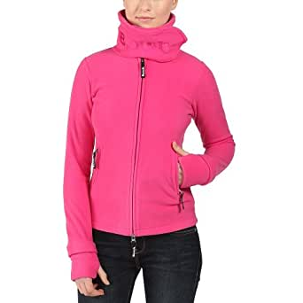Bench Damen Sweatshirt Fleecejacke Funnelneck rosa (Raspberry Rose) X-Small