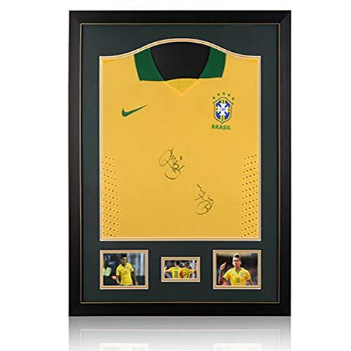 Generic Philippe Coutinho et Roberto Firmino Double Signed Classique–Cadre–Brésil Home pour Homme