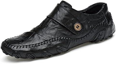 Zapatos de Guisantes Ocasionales de la Moda de los Hombres, Zapatos Perezosos de Cuero del Pulpo Zapatos de Conducción...