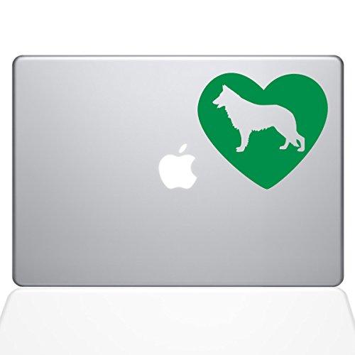 (The Decal Guru Heart German Shepherd Aufkleber Vinyl Sticker 38,1 cm MacBook Pro (2016 und neuere Modelle), Grün (1382-MAC-15X-LG))