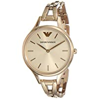 Emporio Armani Womens Quartz Watch, Analog Display and Stainless Steel Strap AR11055