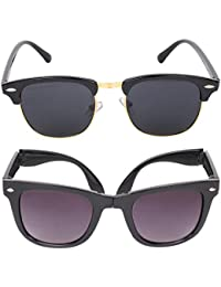 Criba Combo Pack Of Folding Sunglass And Clubmaster Unisex Sunglass