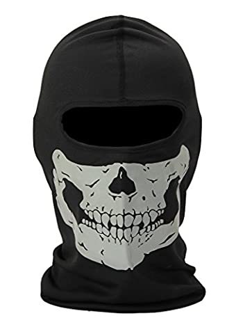 Smartlly Full Face Motorcycle Bicycle Bike Skull Mask Snowmobile Hood Neck Balaclava Hat