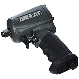 AIRCAT 1055-TH 1/2'' Drive Compact Stubby Mini Air Impact Wrench 500 ft lbs (678 Nm) Maximum Torque AC1055-TH