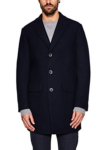 ESPRIT Collection Herren Mantel 127EO2G007, Blau (Navy 400), Large (Herstellergröße: 50)