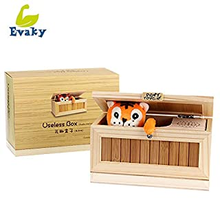 Evaky Creative Don't Touch Tiger Useless Box Unique Musical Wooden Box, Adult Gifts and Practical Jokes Funny toys for friends and kids …