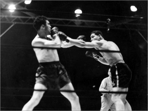Neue Joe Boxer (Poster 80 x 60 cm: Max Schmeling kämpft gegen Joe Louis von Everett Collection - hochwertiger Kunstdruck, neues Kunstposter)