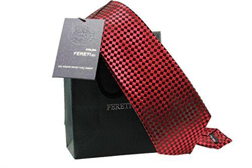 FERETI cravate rouge FABRIQUÉ À LA MAIN