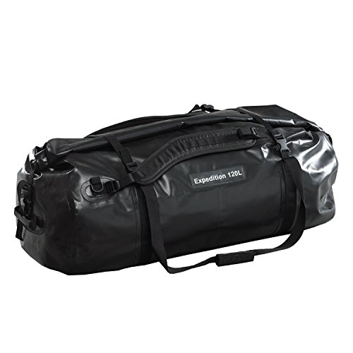 caribee-expedition-wet-roll-barrel-bag-120l-100-waterproof-black-popular-with-motorcyclists-and-outd