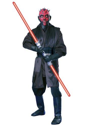 (Super Deluxe Darth Maul 'Star Wars' Kostüm für Herren Gr. M u. L, Größe:L)
