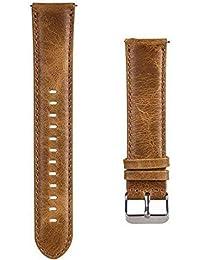 SODIAL 22Mm Remplacement de Bande de Montre Bracelet en Cuir Bracelet Intelligent Réglable en Cuir pour Gear S3 / GT / 2 Pro Marron Clair