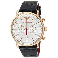 Emporio Armani Men's Quartz Watch, Chronograph Display and Leather Strap AR11123