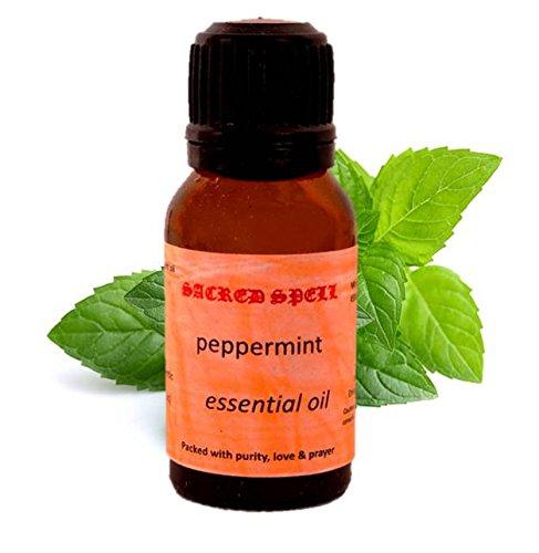 Sacred spell olio di menta piperita (15ml): 100% naturale–ideale per pelle e muscoli o in diffusori di aromi per freschezza (40001)