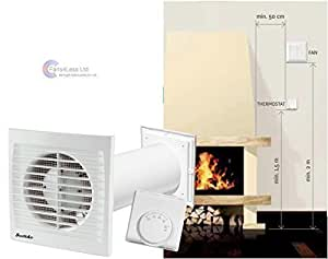 Swiftair distributeur air chaud extracteur chaleur chemin e ventilateur chauffage pi ce - Como se hace una chimenea ...