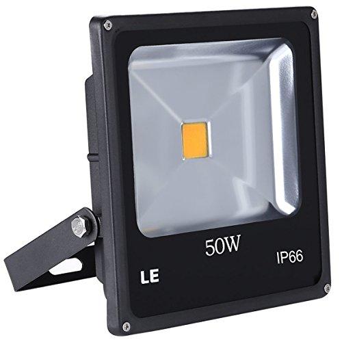 LE 50W Ultraheller LED Fluter Flutlicht, ersetzt 150 Hochdrucknatriumlampe, IP66 wasserdicht, 3250lm 120° LED Außenleuchten, LED Flutlichtstrahler Strahler Scheinwerfer (Warmweiß)