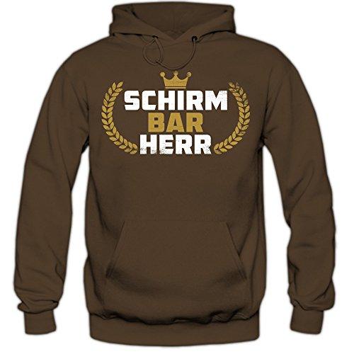 barherr Hoodie | Herren | Wintersport | Alpin Ski | Snowboard | Skiurlaub | Kapuzenpullover | HerrenHoodie, Farbe:Braun (Chocolate F421);Größe:XXL ()