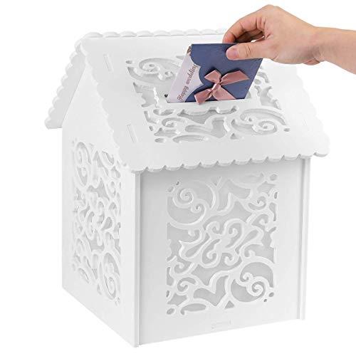 UKMASTER Geschenkkarten Box für Hochzeit Kartenbox Geldbox Briefbox Hochzeitsgeschenk Geldgeschenk 40 x 26 cm (Cloud)