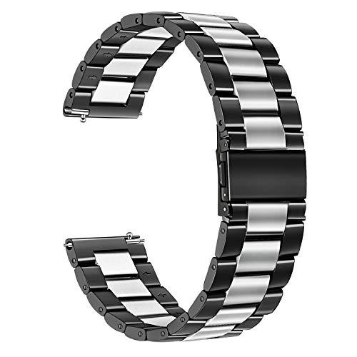 TRUMiRR Galaxy Watch Active 40mm / Galaxy Watch Cinturino 42mm, Cinturino 20mm Cinturino Acciaio Quick Release per Garmin Vivoactive 3, Huawei Watch 2 (Sport) e Altri con 20mm di Larghezza