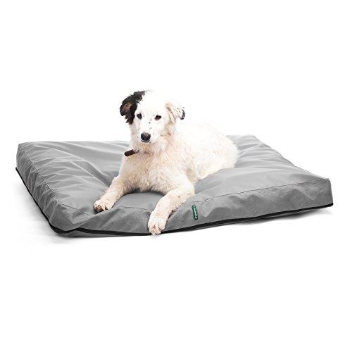 4L TEXTIL ENZO Hundematratze Hundebett Hundesofa Hundekissen Hundekorb Kunstleder (100x80, grau)