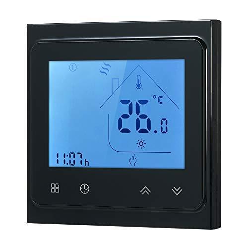 Walmeck- 16A Elektro-Thermostat mit Touchscreen-LCD-Anzeige -