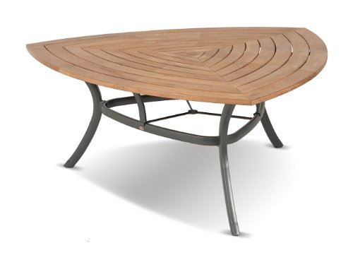 Triangular Tischplatte Teak 150x150cm FSC Teak