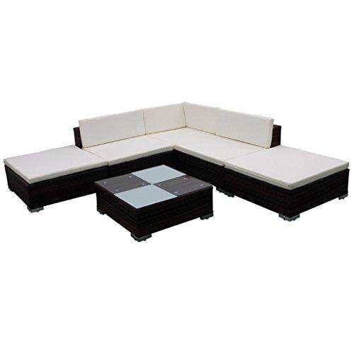 vidaXL Sitzgruppe 15-tlg. Poly Rattan Gartenmöbel Set Lounge Sitzgarnitur Sofa