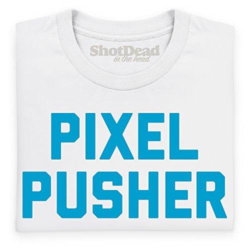 Pixel Pusher T-Shirt, Herren Wei