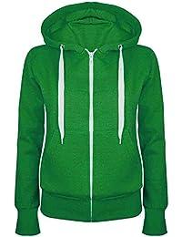 Be Jealous Womens Plain Hooded Sweatshirts Girls Zip Top Ladies Hoodies  Coat Jacket Hoody Plus Size 2fea08865