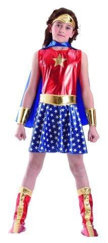 Foxxeo 10247 | Superheldin Kostüm für Mädchen, (Kostüme Mädchen Super Für)