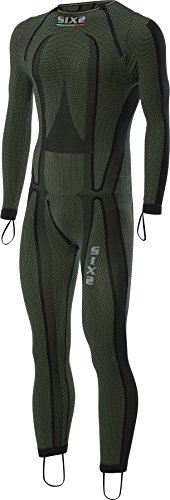 Green-motorrad-helme Dark (SIXS–Unterziehshirt Windstopper Motorrad Integralhelm Racing Carbon Underwear SIXS STX R DARK GREEN–six62C–M)