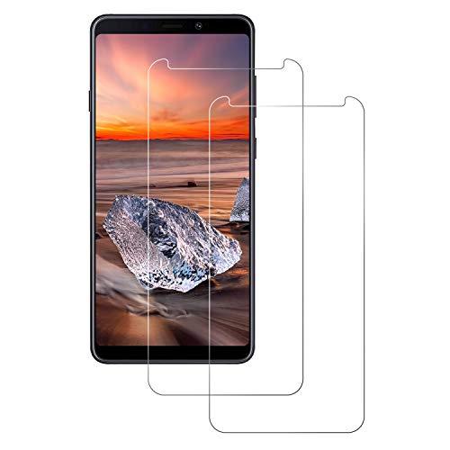 DOSNTO Schutzfolie für Samsung Galaxy A9 2018, [HD Ultra] [Anti-Kratzer] 9H Hartglas Glas Samsung Galaxy A9 2018 Panzerglas Premium Hartglas Gehärtetes Glas Displayschutz(Transparent)