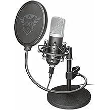Trust Emita Microfono Professionale USB da Studio di Registrazione in Flightcase, Nero
