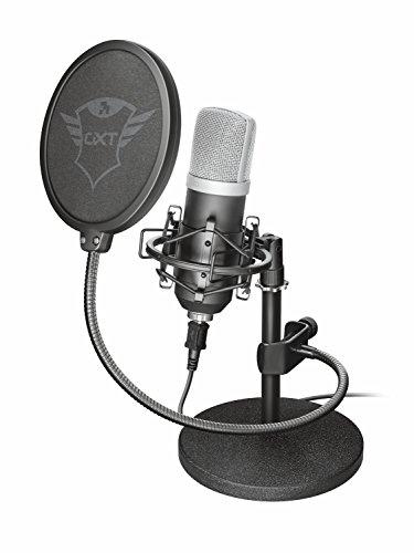 Trust GXT 252 Emita Microfono Professionale USB da Studio di Registrazione, in Flightcase, Nero