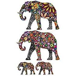 Spaufu Pegatina Tatuaje de Pared para Decoración Adhesiva para Ventana Mural Vinilo Disfraza de Hogar Etiqueta Diseño de Elefantes 35 * 60cm