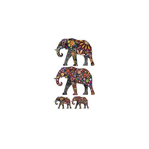 Outflower Pegatinas Cambiar Pared Decorativo, Patrón de Elefante - Etiquetas Adhesivos Adornos 35 x 60 cm