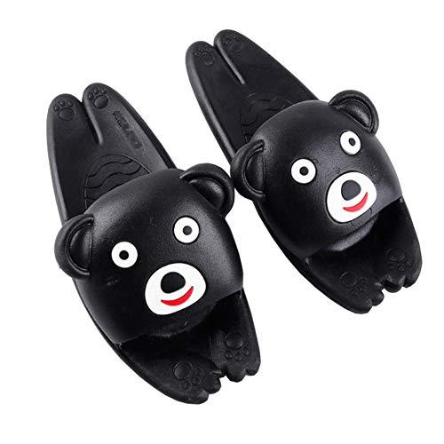Rojeam Cute Cat Bear Slippers for Women Men Kids Summer Bath Slipper Sandals