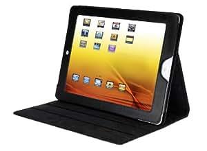 V7 Folio Case Stand für Apple iPad 2, iPad 3, iPad 4 Smart Cover mit Auto Sleep Wake Up Funktion, Smartcover mit 3fach Multi Ständer, Schutz Hülle, Case, schwarz