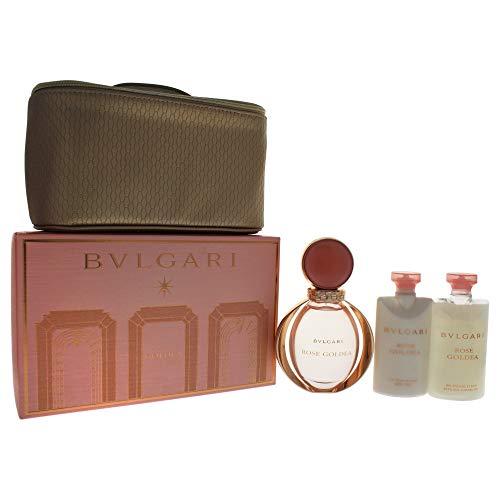 Bvlgari Rose Goldea Set 90ml EDP Eau de Parfum Spray + 75ml Body Lotion + 75ml Shower Gel + Pouch -