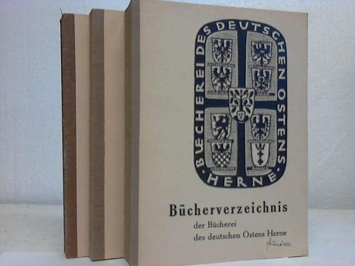 Der Bücherei des deutschen Ostens Herne. 3 Bände