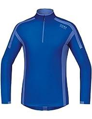 GORE RUNNING WEAR Herren Langarm-Laufshirt, GORE Selected Fabrics, AIR Zip Shirt long, SMZAIR