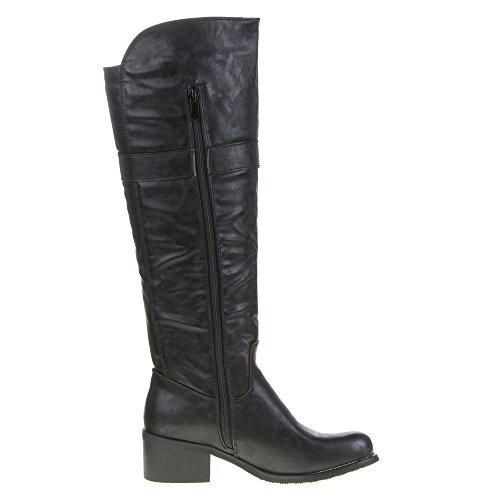 Damen Schuhe, 563, STIEFEL Schwarz