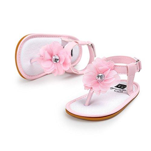 Scarpe per bambini Koly Sandali di perle del fiore del bambino Principessa Principessa Principesse Camminate Ragazze Scarpe da ginnastica Pink