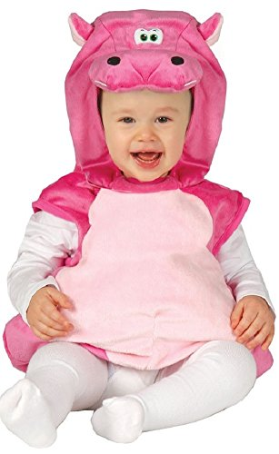 Fancy Me Baby Mädchen Rosa Velours Monster Halloween Kostüm Outfit - Pink, 12-24 Monate