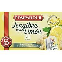 Pompadour Té Infusion Jengibre con Limón - 20 Bolsitas