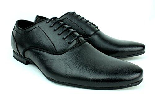 pour Hommes Italien Habillé Chaussures À Lacets Taille 6 pour 11 ROYAUME-UNI Travail Décontracté ECOLE LOISIR AFFAIRES Noir