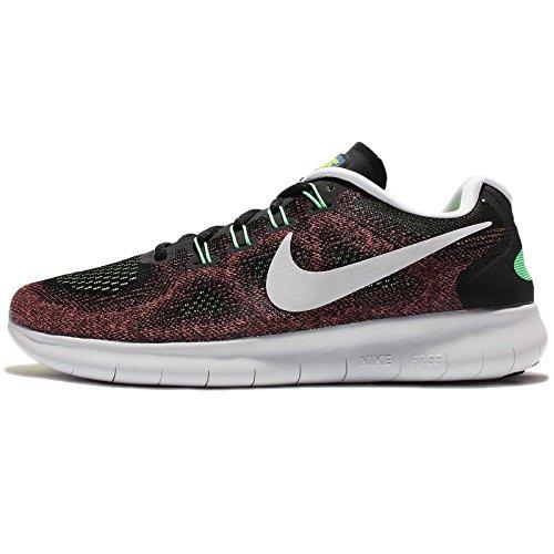 Nike Herren Free Run 2017 Laufschuhe Schwarz (Black/White/Electric Green/Gym Red)
