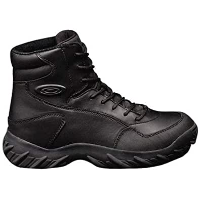 Liberty High Ankle Army Black Shoes