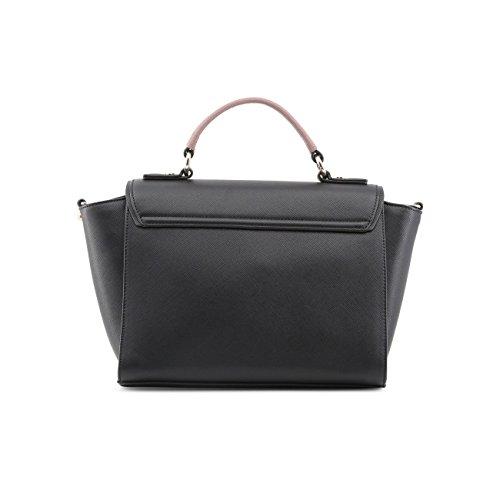 Versace Jeans Borsa Donna q Dis.3 Saffiano Embossed Nero